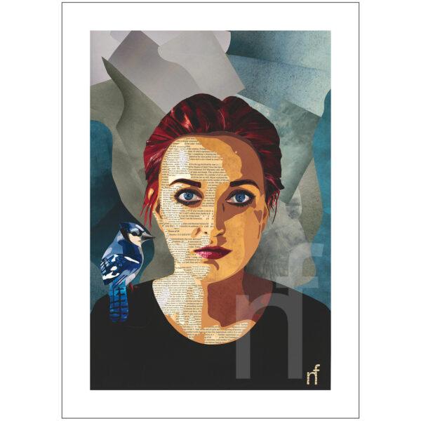 paper art portret