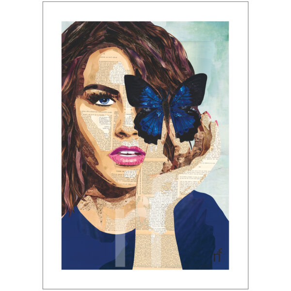 vlinder portret